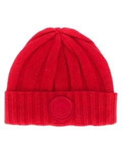 hydrogen овая шапка бини в рубчик один размер красный Hydrogen