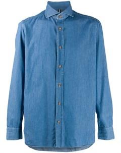Luigi borrelli джинсовая рубашка с длинными рукавами 39 синий Luigi borrelli