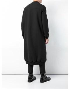 Thamanyah длинное пальто на молнии 48 черный Thamanyah