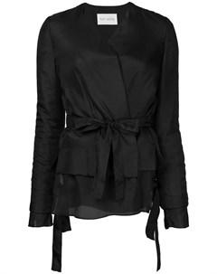 Ms min многослойный пиджак с поясом 4 черный Ms min