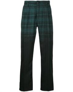 Taakk клетчато полосатые брюки 3 зеленый Taakk