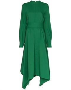 Hyke расклешенное платье с принтом 2 зеленый Hyke