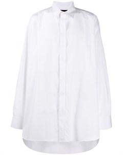 Ann demeulemeester grise рубашка оверсайз s белый Ann demeulemeester grise