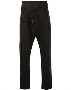 Taichi murakami брюки с низким шаговым швом 46 черный Taichi murakami
