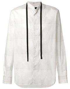 Ann demeulemeester blanche рубашка в полоску l белый Ann demeulemeester blanche