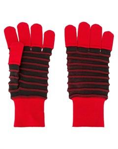 трикотажные перчатки в полоску Issey miyake men