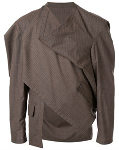 Hed mayner куртка с драпированным воротником 46 коричневый Hed mayner