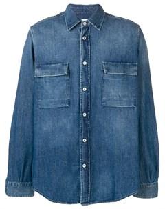 President s джинсовая рубашка на пуговицах l синий President's