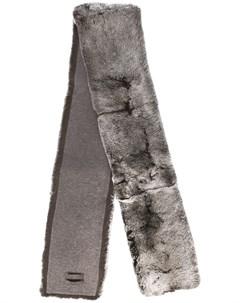 N peal длинный меховой шарф один размер серый N.peal