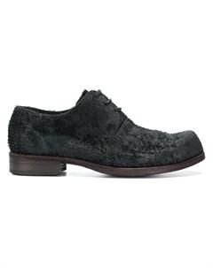Individual sentiments ботинки дерби с фактурной выделкой 40 черный Individual sentiments