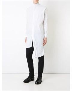 A new cross асимметричная жатая рубашка m белый A new cross