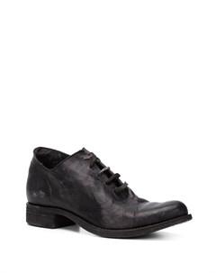 A diciannoveventitre ботинки на шнуровке с потертой отделкой 37 черный A diciannoveventitre