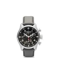 Alpina наручные часы startimer pilot big date chronograph 44 мм 44 black Alpina