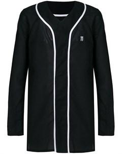 11 by boris bidjan saberi рубашка с v образным вырезом и логотипом s черный