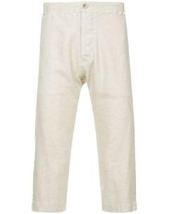 A new cross укороченные брюки с декоративной строчкой xs нейтральные цвета A new cross