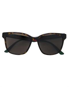 Прямоугольные солнцезащитные очки Gucci eyewear