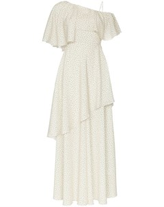 Vika gazinskaya платье миди на одно плечо с оборками 36 нейтральные цвета Vika gazinskaya