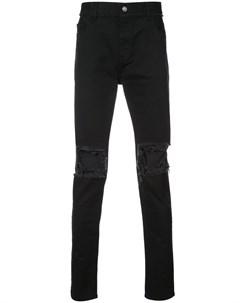 Christian dada джинсы с рваным эффектом 50 черный Christian dada