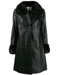 Пальто со вставкой из искусственного меха Charlotte simone
