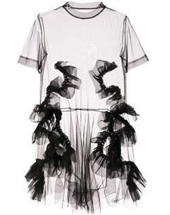 Roberts wood полупрозрачное платье из тюля s черный Roberts wood