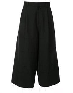 Christian dada укороченные ярусные брюки 46 черный Christian dada