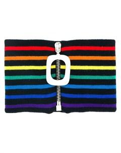 полосатый шарф с застежкой молнией Jw anderson