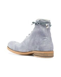 Individual sentiments фактурные высокие ботинки на шнуровке 43 синий Individual sentiments