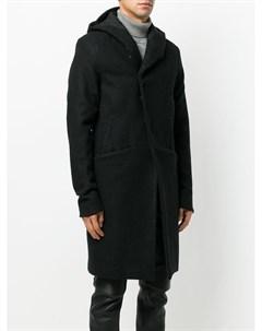 A new cross удлиненное пальто с капюшоном s черный A new cross