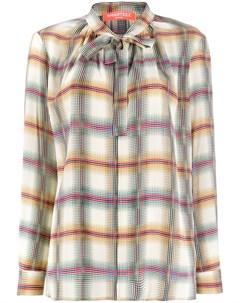 Smarteez клетчатая блузка с бантом 38 нейтральные цвета Smarteez