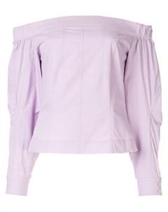 Christian dada рубашка с открытыми плечами 36 фиолетовый Christian dada