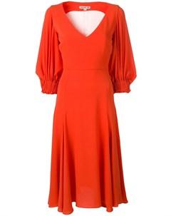 Edeline lee платье с объемными рукавами 10 оранжевый Edeline lee