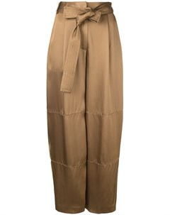 Sally lapointe брюки свободного кроя с поясом 4 коричневый Sally lapointe