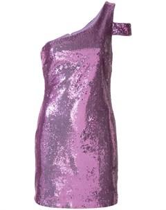 Likely платье на одно плечо с пайетками 2 фиолетовый Likely