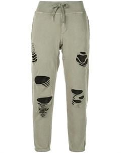 Nsf спортивные брюки sayde с эффектом потертости m зеленый Nsf