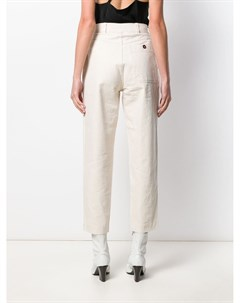 Margaret howell зауженные джинсы с завышенной талией s нейтральные цвета Margaret howell