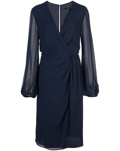 Jay godfrey платье длины миди с запахом 4 синий Jay godfrey
