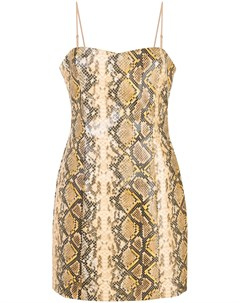 Likely юбка мини с тиснением под змеиную кожу 2 золотистый Likely