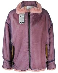 Quetsche куртка оверсайз на молнии 38 фиолетовый Quetsche