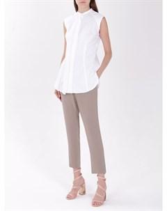 Хлопковая блуза с оборкой Brunello cucinelli