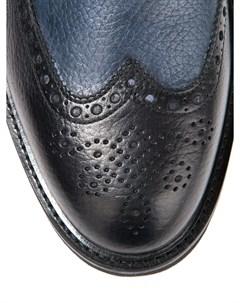 Кожаные броги с мехом Blu barrett