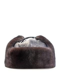 Шапка из кожи крокодила с мехом Bos bison