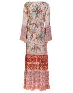 Платье шелковое с принтом Raffaela d'angelo