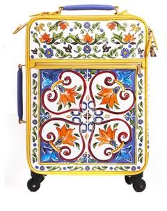 Кожаный чемодан Sicily Trolley Dolce&gabbana
