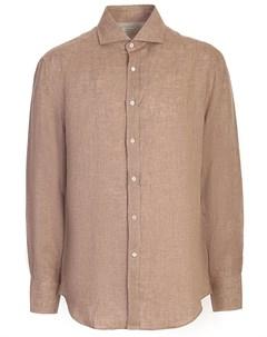 Рубашка льняная Slim Fit Brunello cucinelli