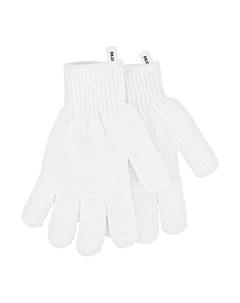 Перчатки для душа отшелушивающие белые 2 шт Deco