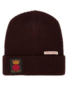 Kent curwen шапка с заплаткой один размер красный Kent & curwen