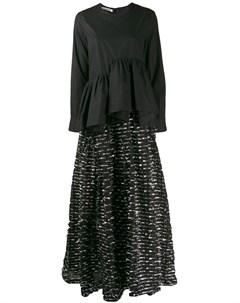 Jourden вечернее платье рубашка асимметричного кроя 36 черный Jourden