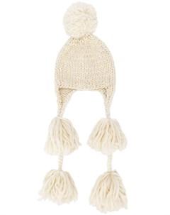Super duper hats шапка бини с бахромой один размер нейтральные цвета Super duper hats