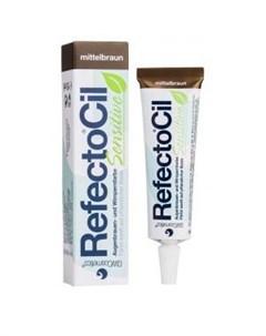 Краска для бровей и ресниц для чувствительной кожи Коричневая RefectoCil Sensetiv Refectocil (австрия)