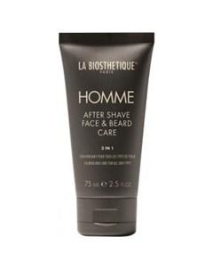 Ревитализирующая эмульсия после бритья для ухода за кожей лица и бородой After Shave Face Beard Care La biosthetique (франция волосы)